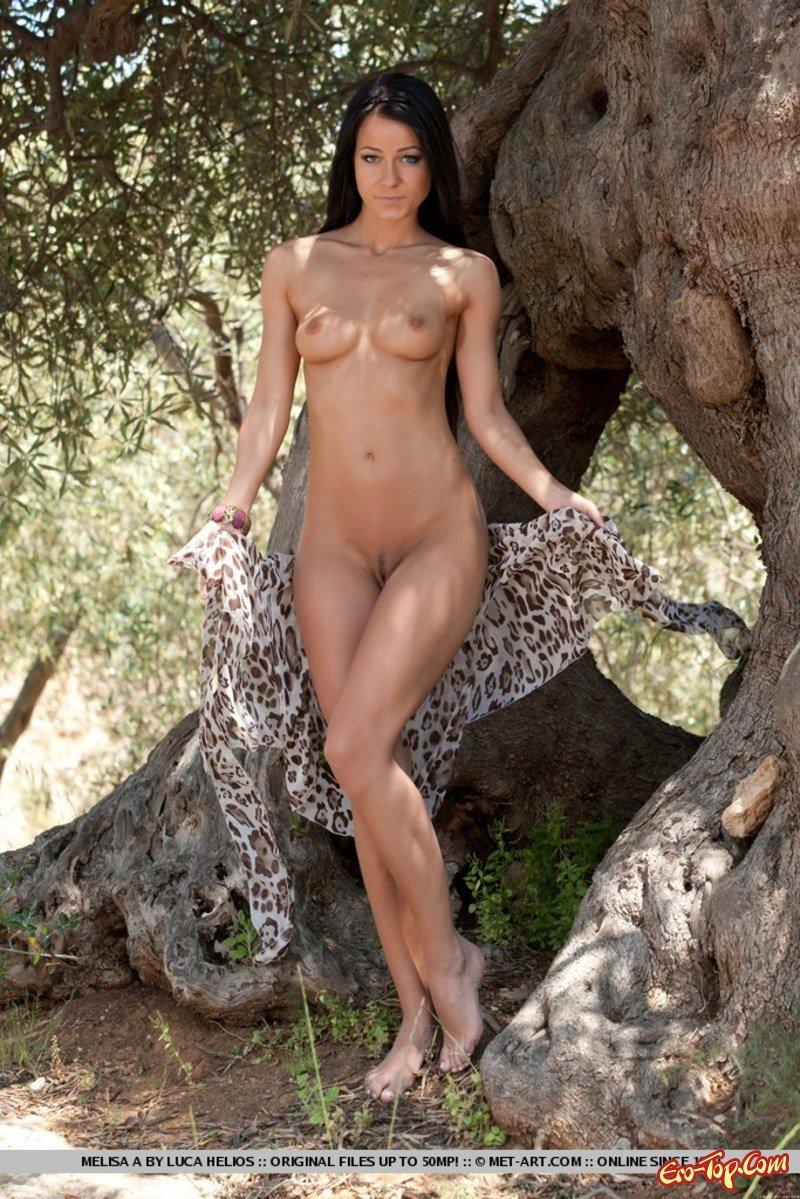 Супермодель Milisa A. на дереве