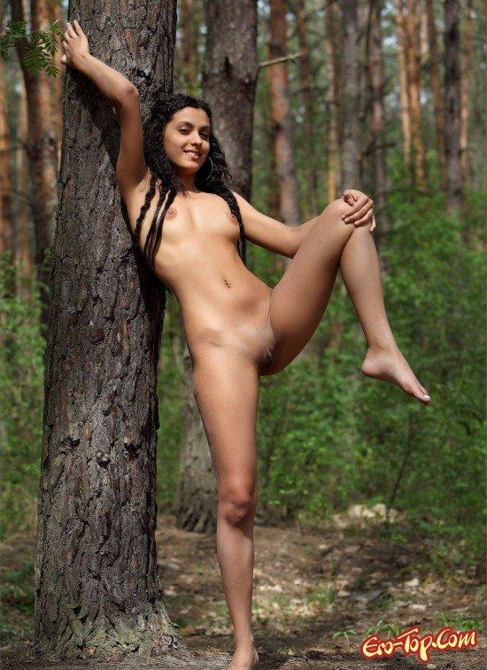 Разделась около дерева