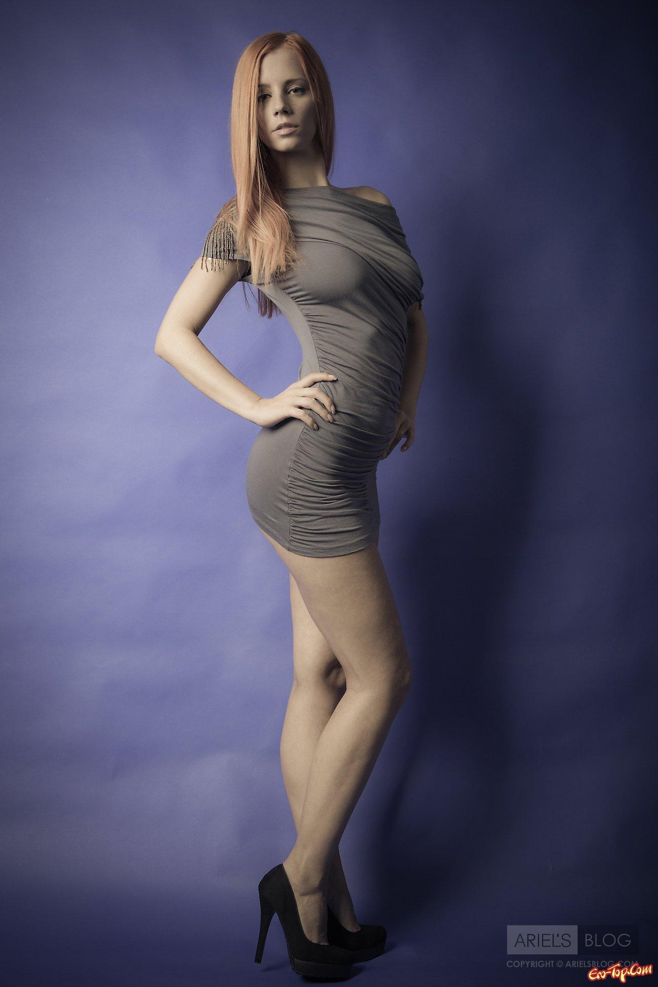 Милая фигура в платье