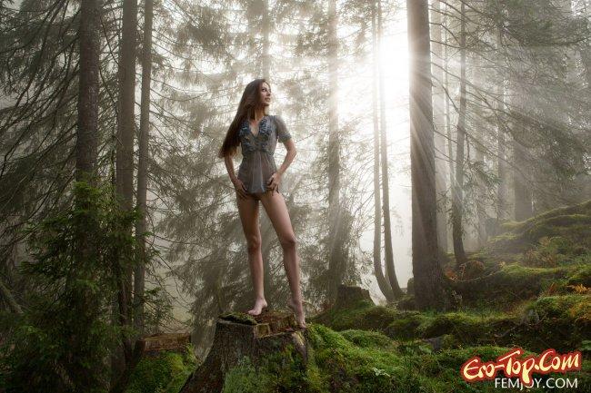 Фото ххх в лесу