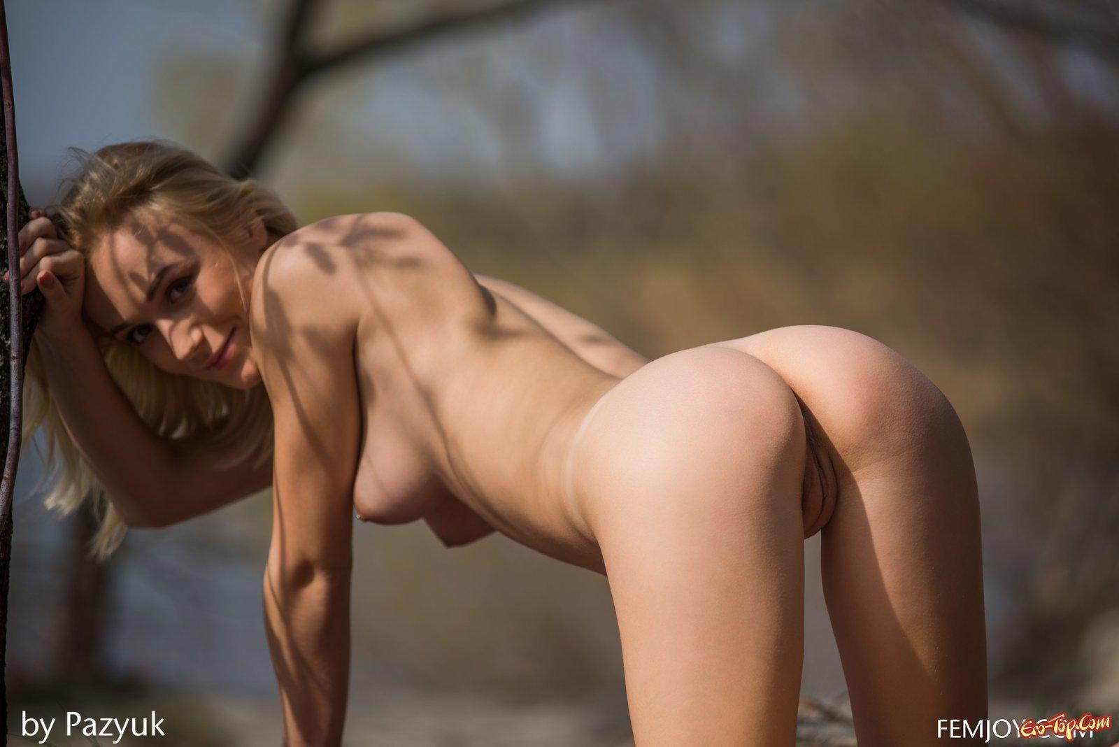 Голая на пикнике