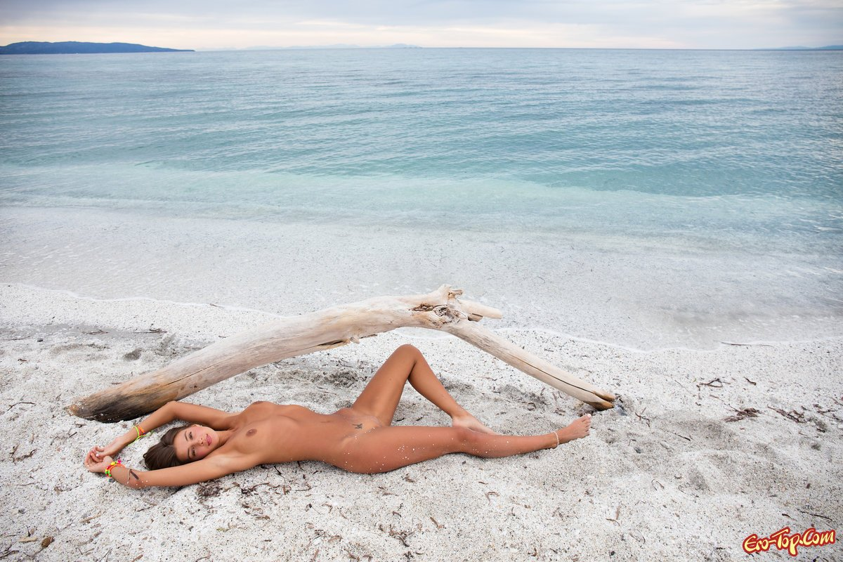 Русская тёлка оголилась у моря секс фото