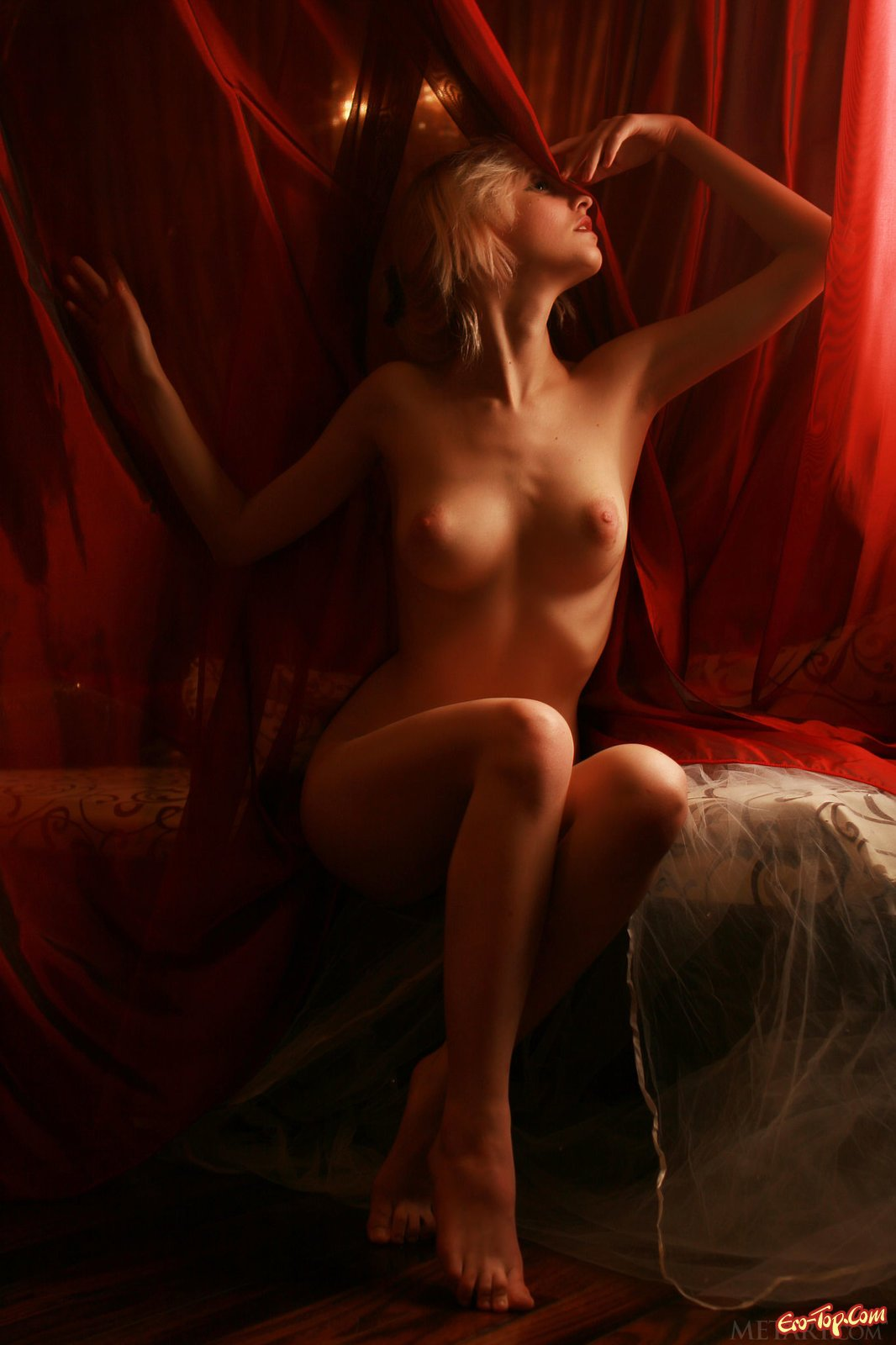 Нагая девка в интимной обстановке секс фото