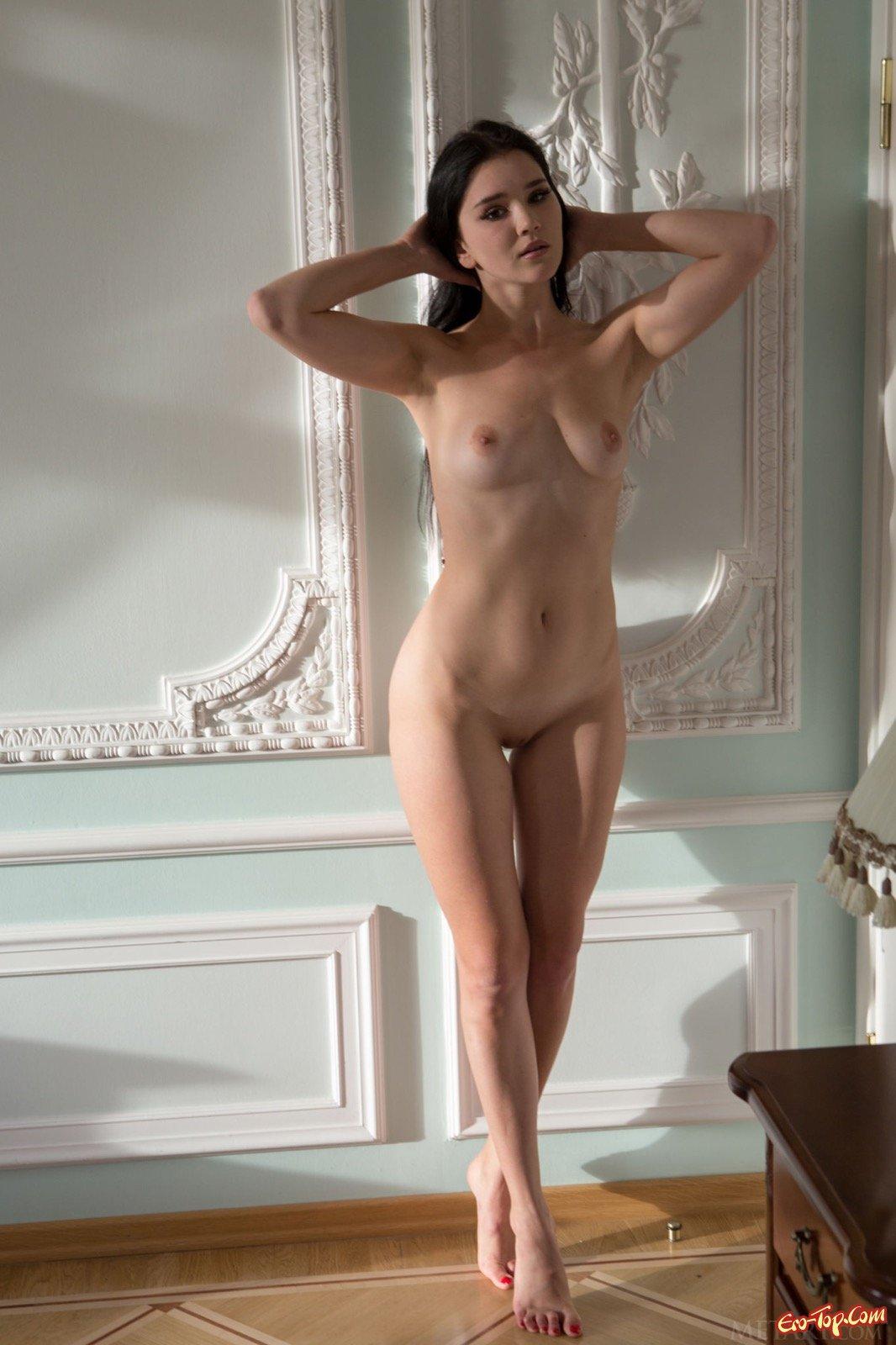 Эротическая фото сессия с обнаженной брюнеточкой
