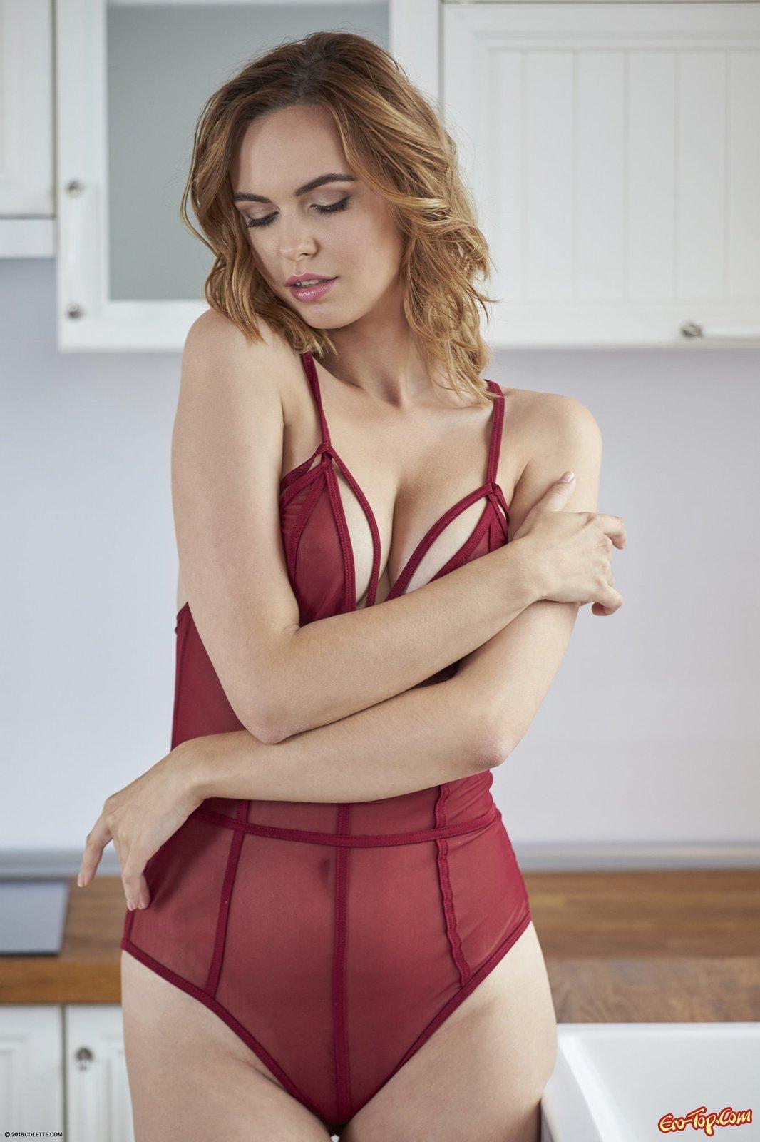 Полупрозрачное боди на сексуальном теле девки секс фото